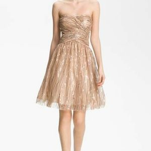 Hailey Adrianna Pappel Gold Sequined Party Dress